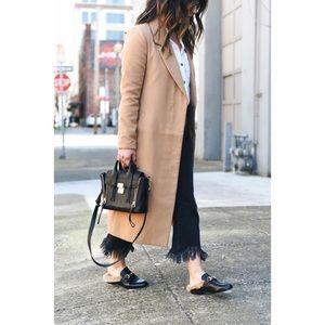 Black Fur Loafers